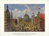 Currier & Ives Broadway print