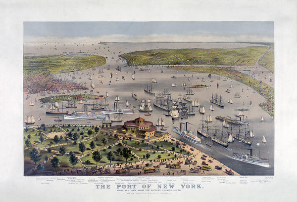 Birds Eye View of Port of New York