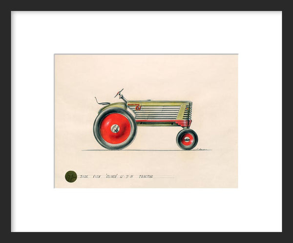Design for Oliver Row Crop 61 Tractor framed print