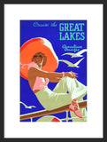 Cruise the Great Lakes framed poster