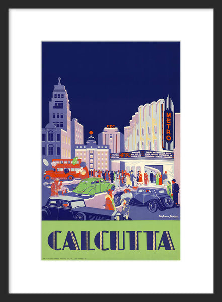 Calcutta Metro Cinema travel poster