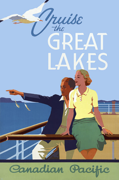 Cruise the Great Lakes poster.