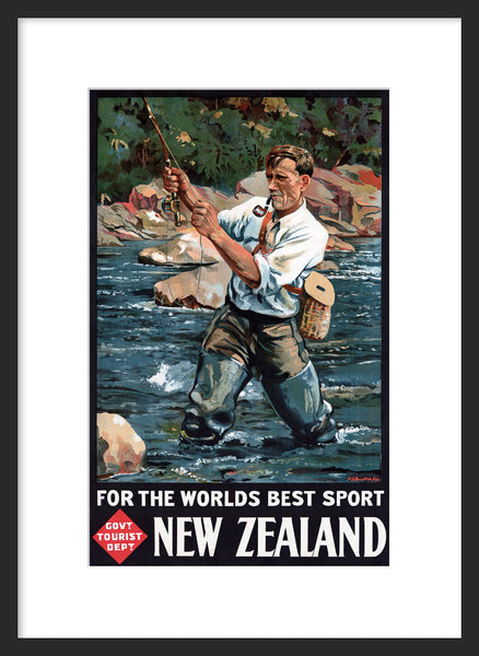 For the World's Best Sport New Zealand poster framed