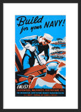 Build for your Navy! Enlist! framed poster