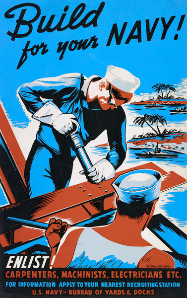 Build for your Navy! Enlist! poster