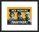 Men Working Together framed poster