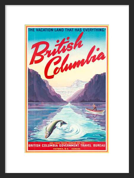 British Columbia framed poster