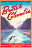British Columbia travel poster