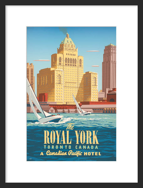 Royal York Hotel framed poster
