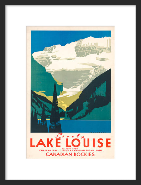 Lovely Lake Louise framed poster