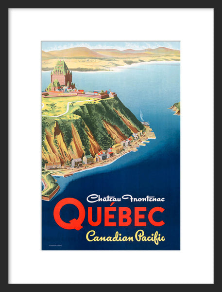 Chateau Frontenac framed poster