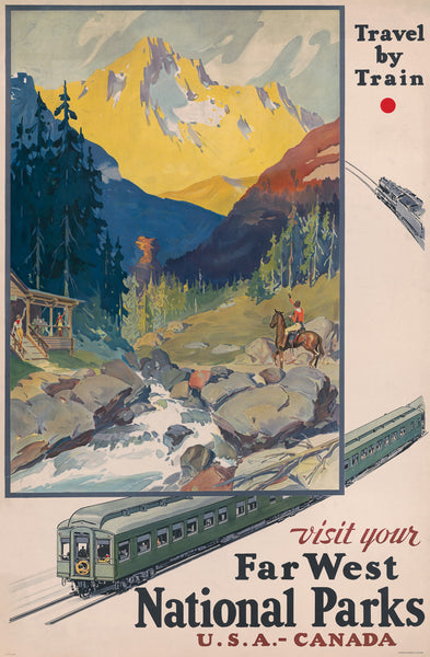 Visit Your Far West National Parks poster