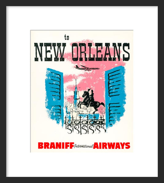 To New Orleans framed print