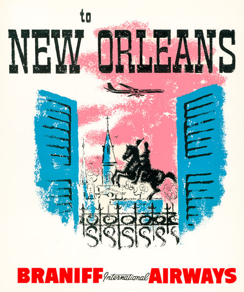 To New Orleans print