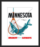 Minnesota Vintage Travel Poster