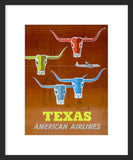 Texas: American Airlines framed poster
