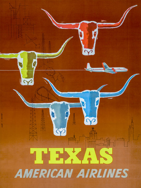 Texas: American Airlines poster