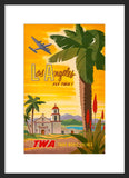 Los Angeles: Fly TWA framed poster