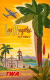 Los Angeles: Fly TWA poster
