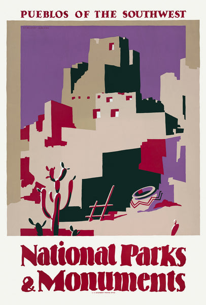 Pueblos of the Southwest: National Parks & Monuments poster