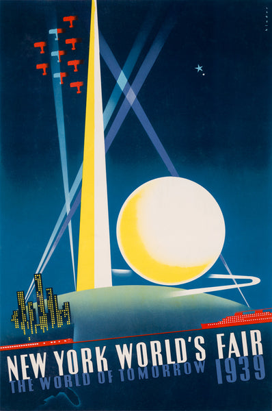 39 New York World's Fair, The World of Tomorrow poster