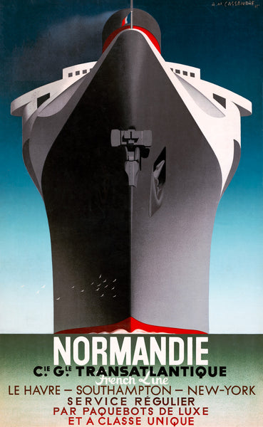 Normandie - French Line travel poster