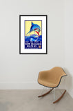 Deep Sea Sport in New Zealand Waters framed poster in room