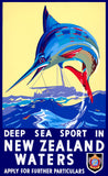Deep Sea Sport in New Zealand Waters poster