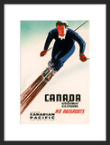 Canada Welcomes U.S. Citizens framed poster
