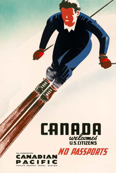 Canada Welcomes U.S. Citizens poster