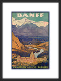 Banff Springs Hotel framed travel poster