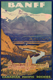 Banff Springs Hotel travel poster