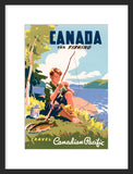 Canada for Fishing framed poster
