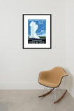 Yellowstone National Park framed poster in room