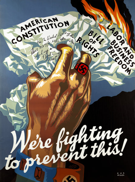We're Fighting to Prevent This WWII poster