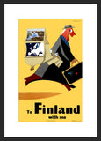 To Finland With Me framed travel poster