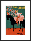 The Circus Girl framed poster