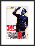 Turkish Airlines: 1938 framed poster