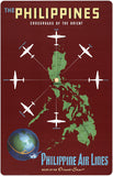 The Philippines, Crossroads of the Orient Vintage Travel Poster