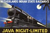 Java Night-Limited Vintage Travel Poster