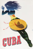 Cuba: Holiday Isle of the Tropics (Sunbather) Vintage Travel Poster