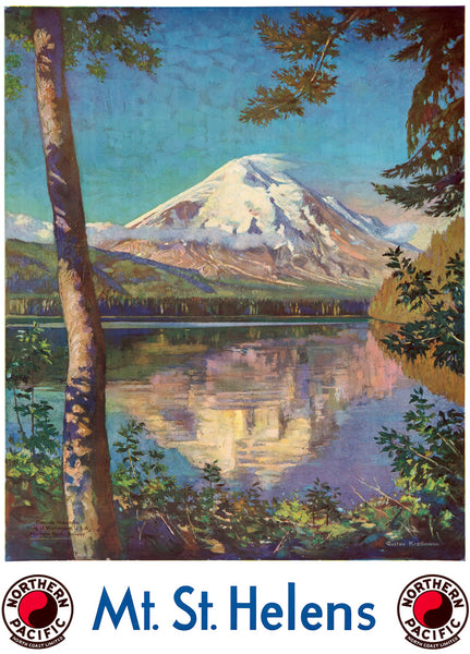 Mount St. Helens Travel Poster