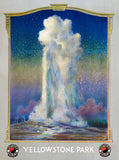 Old Faithful in Yellowstone Park poster