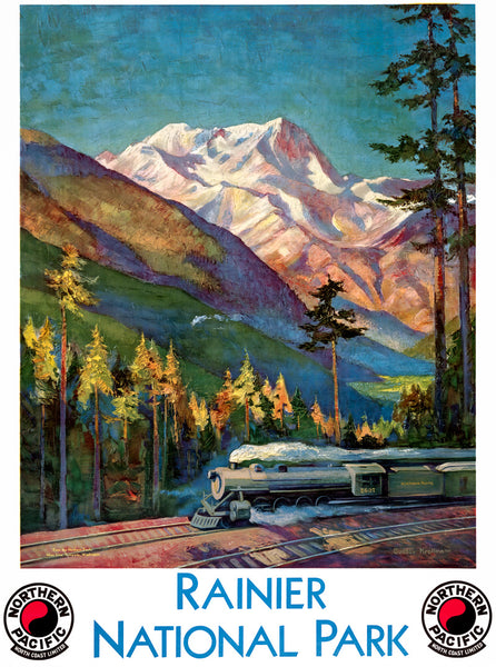 Rainier National Park Poster