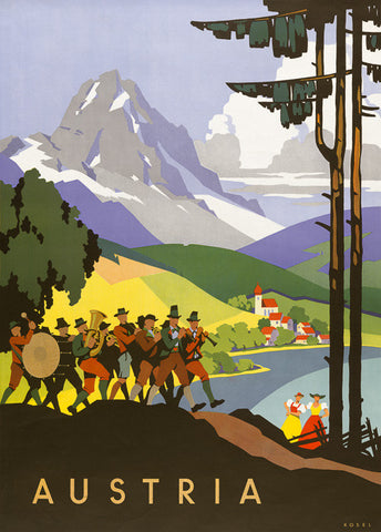 Austria Travel Poster