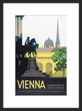 Vienna travel framed poster