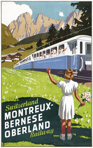 Switzerland Montreux-Bernese Oberland Railway
