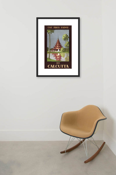 See Calcutta Travel Poster Vintagraph Prints