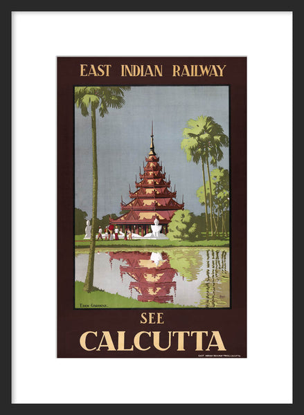 See Calcutta travel poster