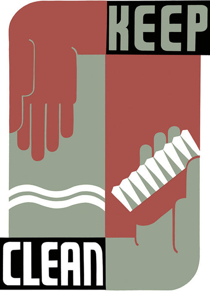 Keep Clean WPA Poster